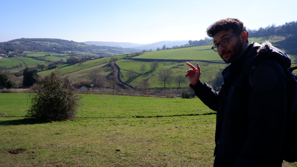 Saif in the lovely Bath countryside